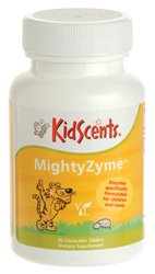 MightyZymes Childrens Chewable Digestive Enzymes Supplement with Protease