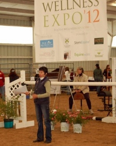 Nan Martin speaking at the Equine Wellness Expo 2012