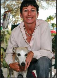 Nan Martin and her dog Lexie at Yappy Hour Dog Expo