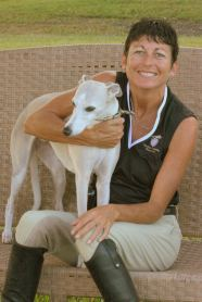 Nan Martin of Experience Essential Oils and her dog,  Lexie, at the Barn. Courtesy of Wild Eyes Photgarphy.